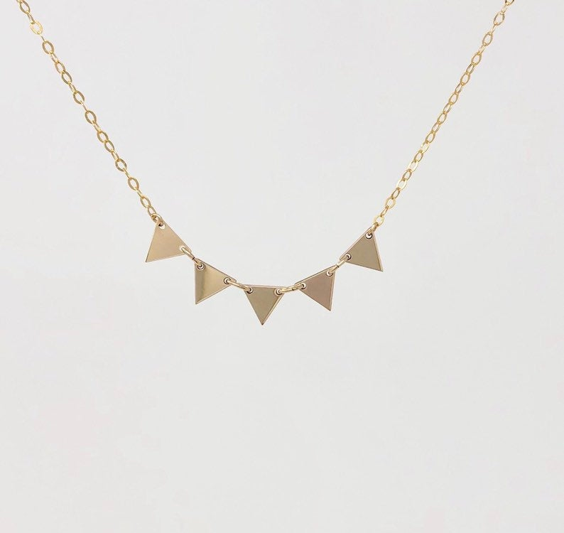 FIVE Triangle Necklace