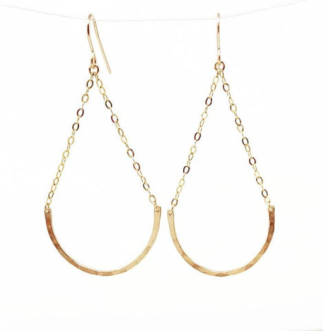 Hammered Half Circle ARC Earrings