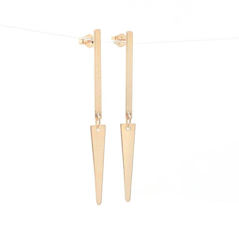 Dangling Spike Gold Fill Post Earrings
