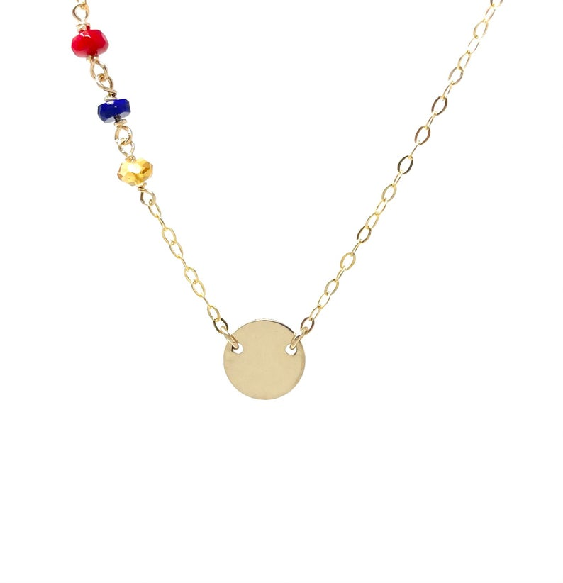 Colors of Armenia Disc Necklace