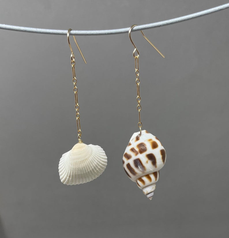 Seashell Chain Earrings