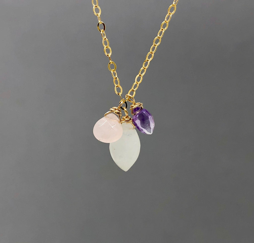 Multi-stone Petal necklace