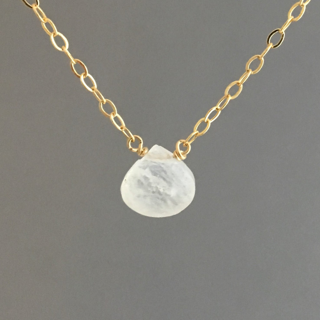 Moonstone TINY Drop Necklace