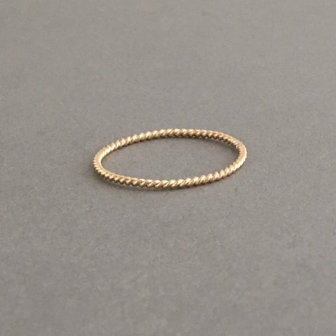Thin Twisted Stacking Ring