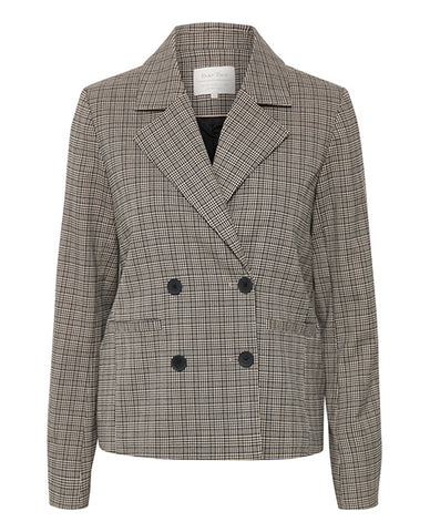 Part Two Millay Blazer grey check black buttons