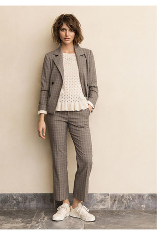 Part Two co-ord blazer and trousers in grey check
