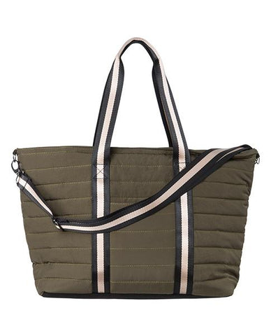 YAYA Stone Grey Khaki Bag sheen tote bag