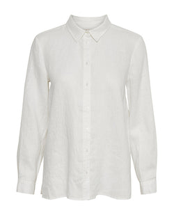 Part Two Lamina Linen Shirt white classic casual everyday womens buttondown summery blouse