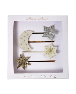 Meri Meri Moon and Star Hair Clips  | Biscuit Clothing