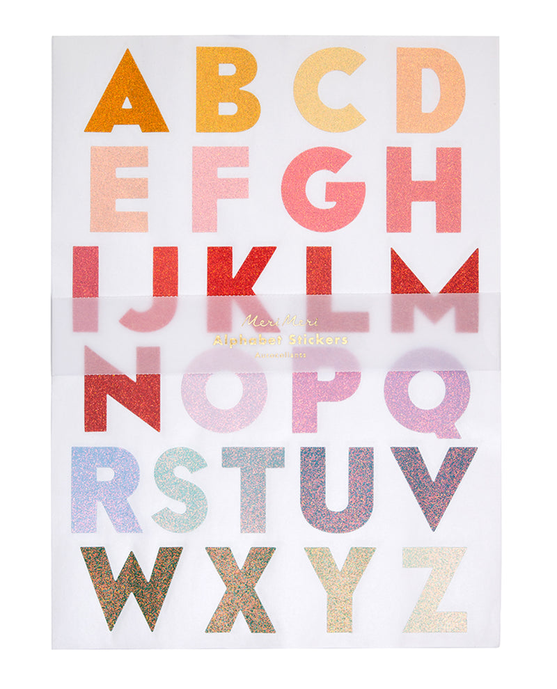 Meri Meri Giant Ombre Alphabet Stickers