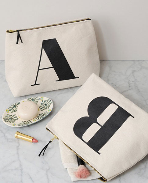 Alphabet Initial Wash Bag