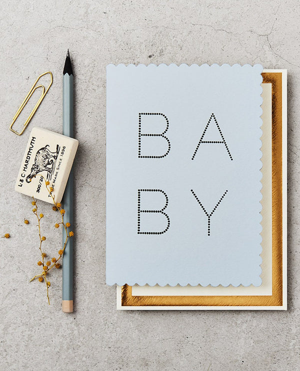 Katie Leamon Luxe Baby Blue Card