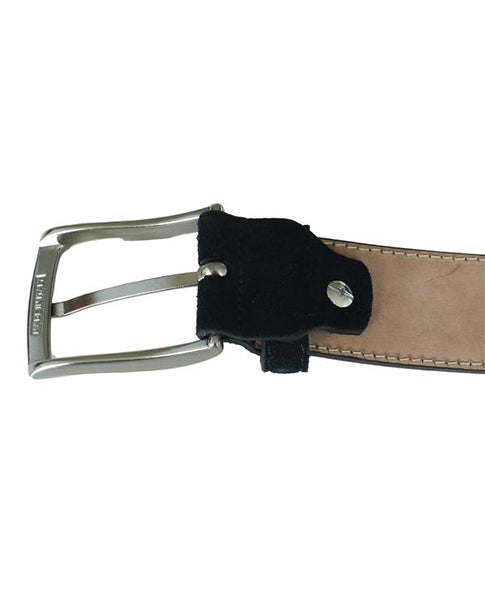 Fioriblu Papavero Ladies gents unisex mid light pale blue suede leather belt | Biscuit Clothing