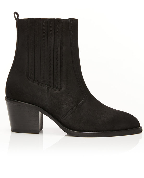 Air and Grace Bardot Black Boots