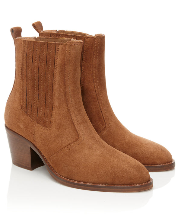 Air and Grace Bardot Tan Boots
