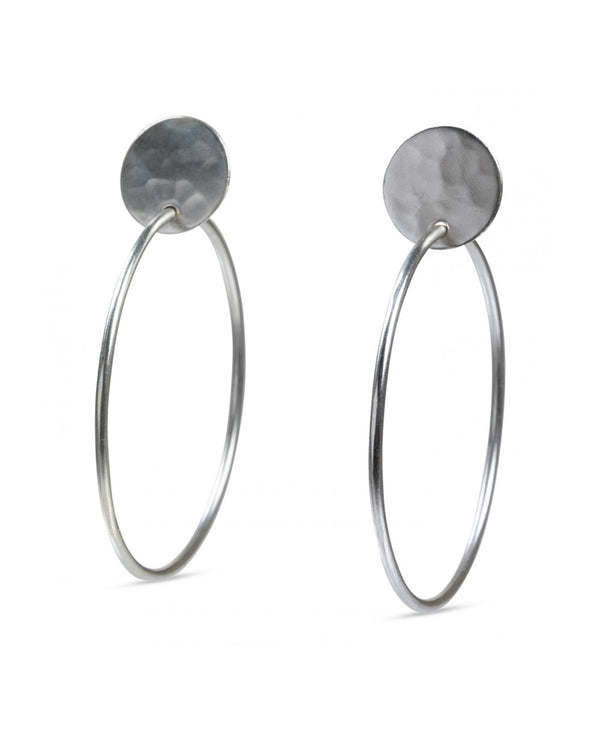 Yaya Silver Embossed Hoop Earrings
