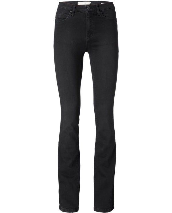Yaya Black High Waist Flare Jeans