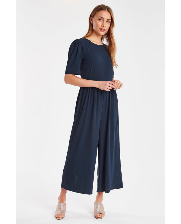 Ichi Bright Navy Jumpsuit