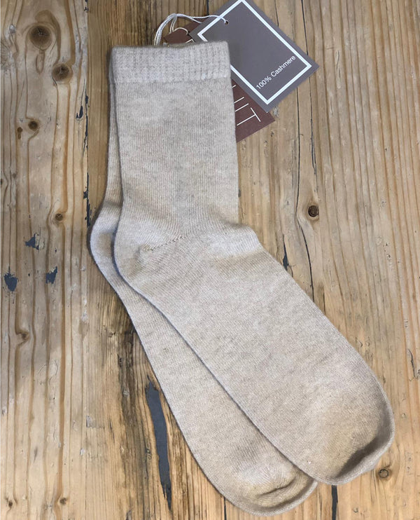 Biscuit Cashmere Antique White Bed Socks
