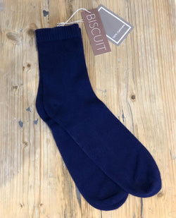 Biscuit Cashmere Liberty Blue Bed Socks