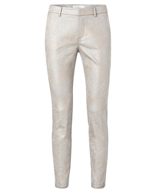Yaya Faded Bronze Metallic Trousers