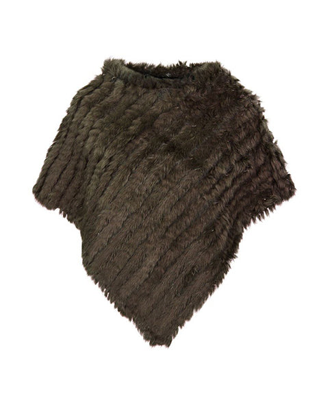 Natures Collection Molly Fur Poncho