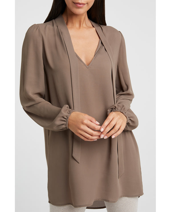 Yaya Chocolate Tunic Top