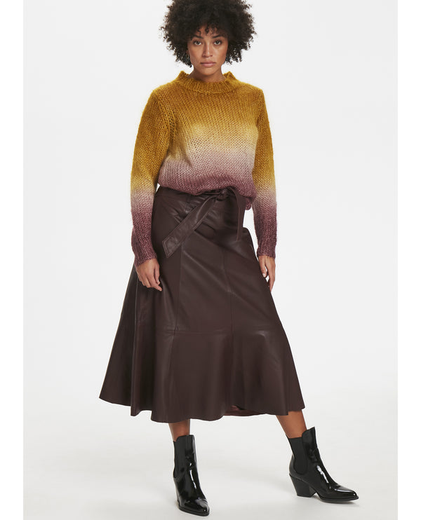 Karen By Simonsen Crown Leather Skirt