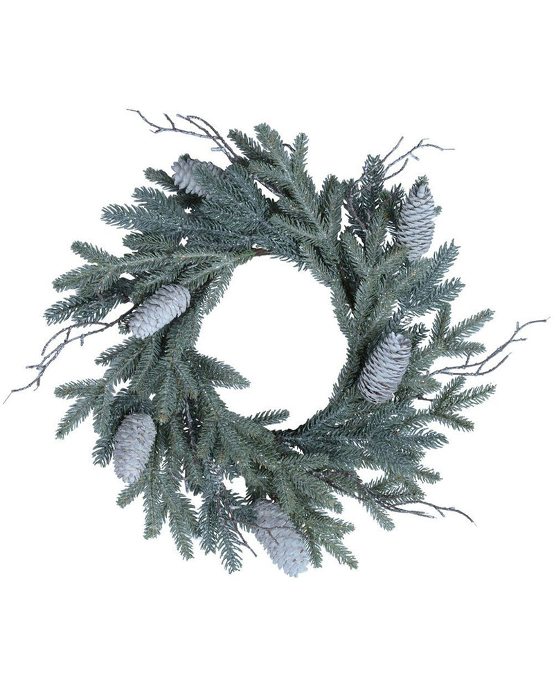 Grand Illusions White Cone Wreath