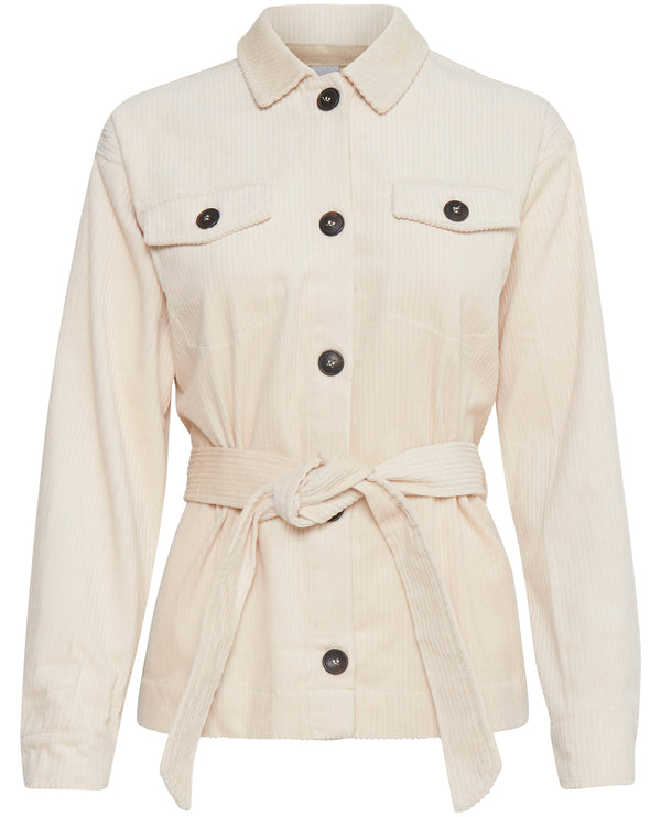 Ichi Bea Cream Cord Jacket
