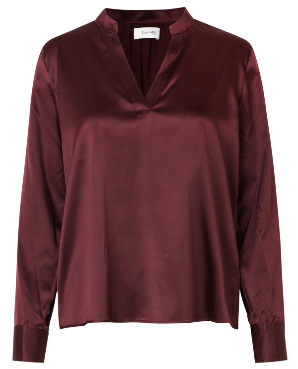 Levete Room Dakota Burgundy Shirt