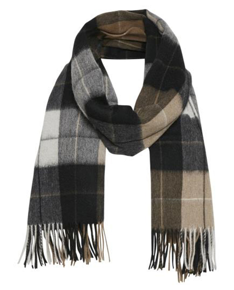Part Two Ecita Brown Check Scarf