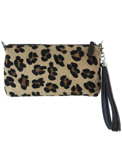 Fioriblu Forget Me Not Leopard Clutch