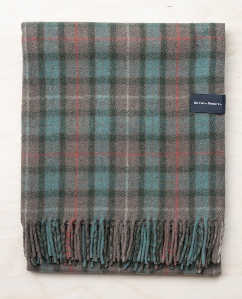 Tartan Blanket Co. Recycled Wool Fraser Weathered Hunting Blanket