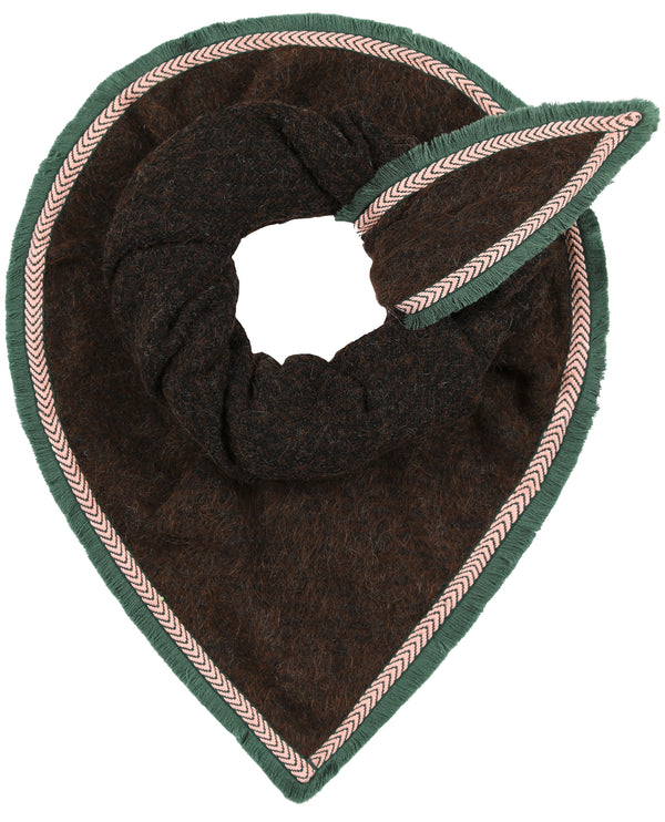 POm Amsterdam Furry Brown Scarf