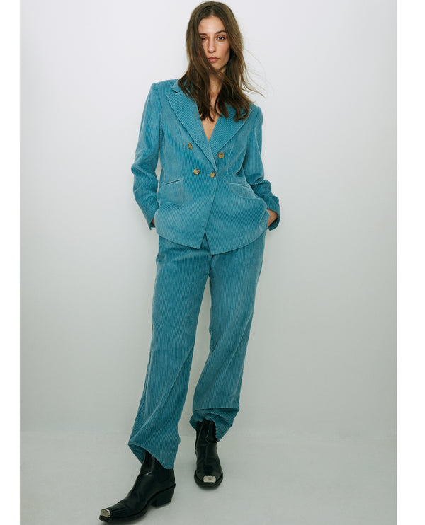 Levete Room Gertrude Blue Cord Trousers