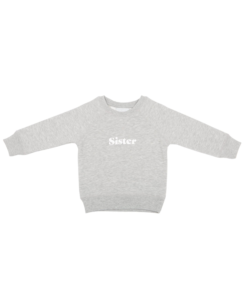 Bob and Blossom Marl Grey Sister Sweatshirt