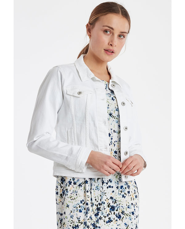 Ichi Gusto White Denim Jacket