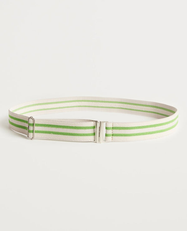 Bellerose Shiea Striped Green Belt