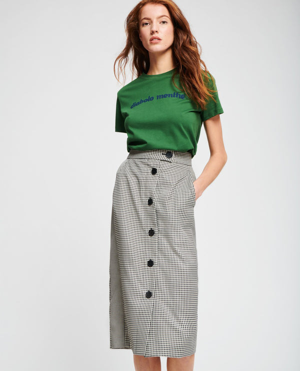Tara Jarmon Checked Skirt