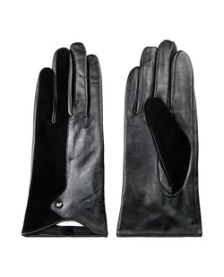 Ichi Dines Black Leather Gloves