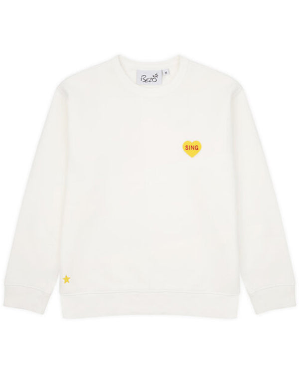 Bezo White Love Sing Sweatshirt