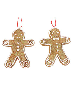 Gisela Graham Gingerbread Men Resin Decorations