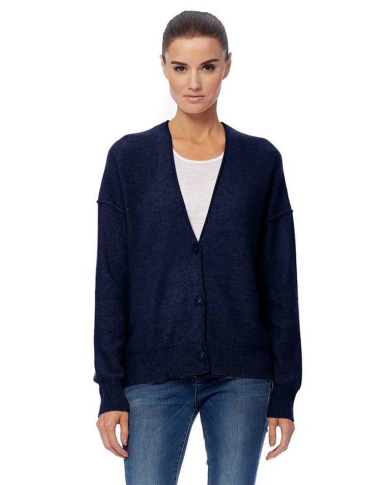 360 Cashmere Itzie Navy Cardigan