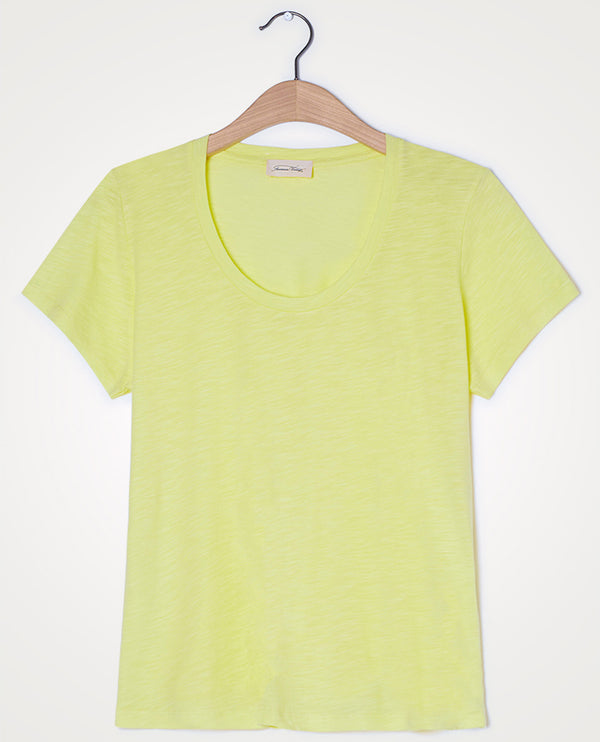 American Vintage Jacksonville U-Neck Acid Yellow T-Shirt