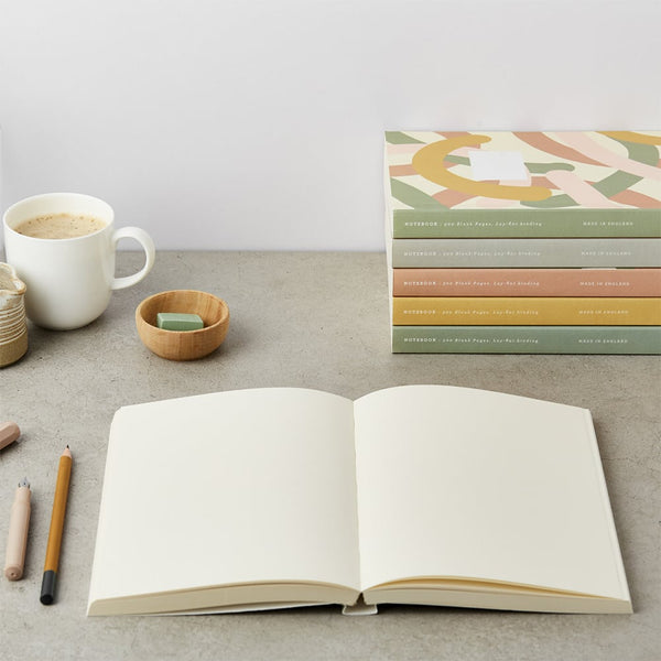 Katie Leamon Green Grid Notebook
