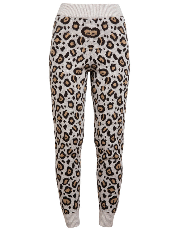 Ragdoll Knitted Leopard Jogger Bottoms