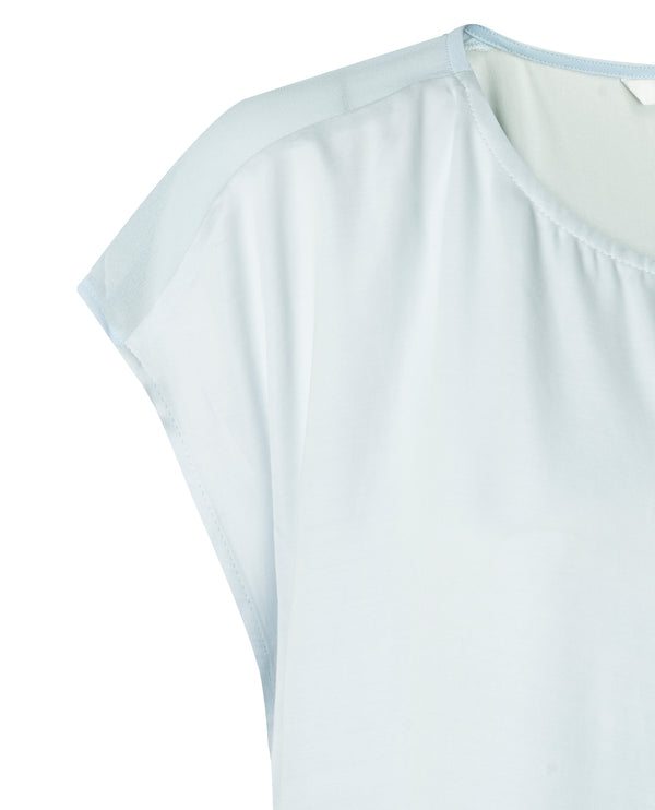 Yaya Light Blue Cupro Top