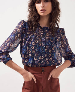 Suncoo Lisemay Floral Blouse
