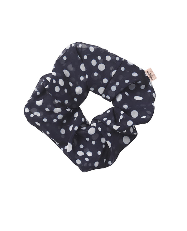 Beck Sondergaard Dotted Navy Scrunchie
